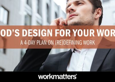 God's Design for Your Work
