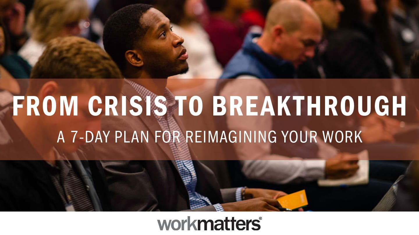 Subscribe to this 7-day plan on the YouVersion Bible app that walks you through six steps to transform crisis at work into a breakthrough in your faith.